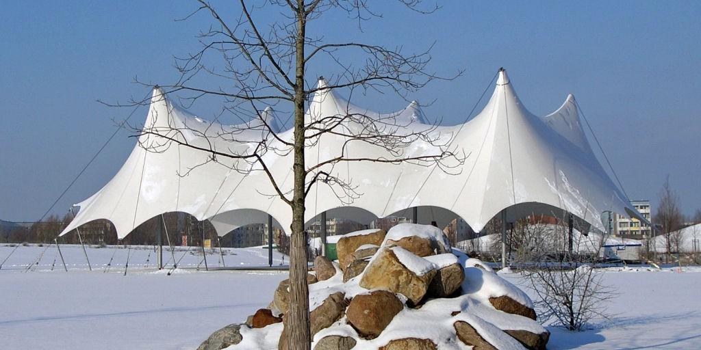 Parkbühne im Winter