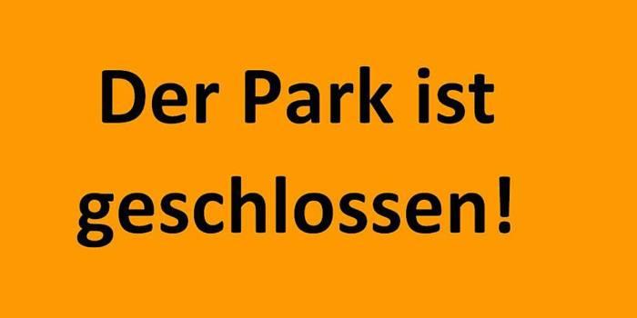 IGA Park ist geschlossen