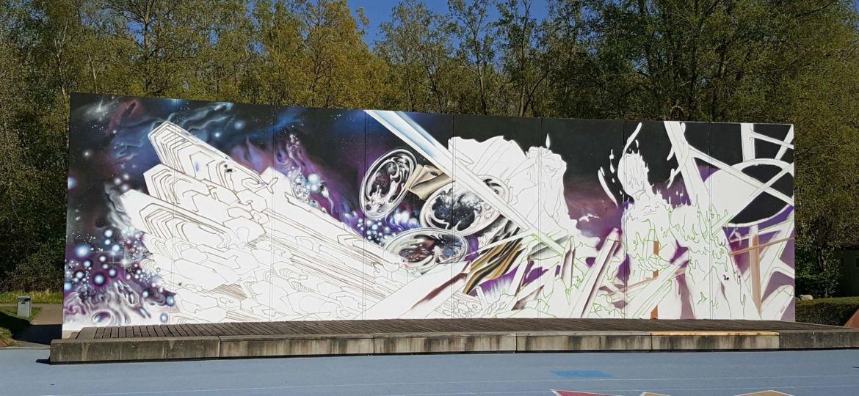 Graffiti in Schiffsarena
