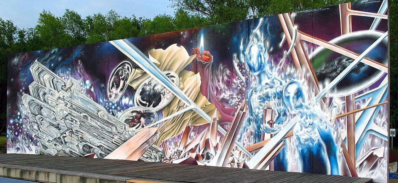 Cosmic Mural in Rostock finished!